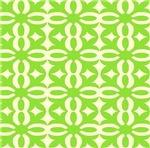 Lime Green Victorian Lacy Design
