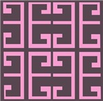 Brown and Pink Tile