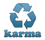 Karma T-shirts. Wear the karma t-shirt with a recy