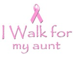 Breast Cancer. I walk for my aunt.
