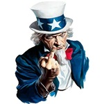Uncle Sam - Middle Finger