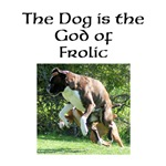 The Dog is the God of Frolic design