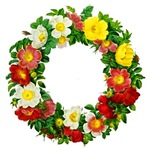 Rose Wreath by Redoute