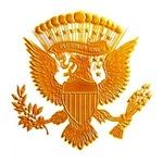Vintage Gold Presidential Seal
