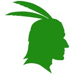 Green Native American Outline