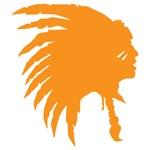 Orange Indian Headdress Outline