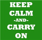 Keep Calm And Carry On (Green)