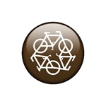 Recycle Bicycle Brown