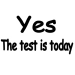 YES, THE TEST IS TODAY