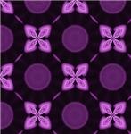 Glowing Purple Four Petal Flower Pattern