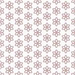 Cute Pink Five Petal Flower Pattern