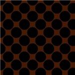 Large Black and Brown Polka Dots