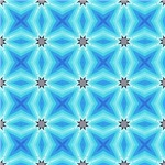 Bright Turquoise Expanding Stars Pattern
