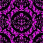 Pink and Black Royal Emblem