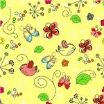 Cute Butterflies and Birds Pattern