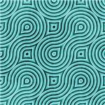 Turquoise Wavy Maze
