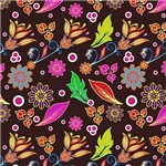 Colorful Leaves and Flowers Pattern