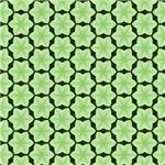 Green Six Point Star Pattern