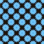 Pretty Blue Star Flowers Pattern