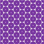 Purple Barbed Wire Octagon Pattern