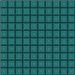 Turquoise Squares In Squares Pattern
