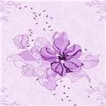 Pretty Purple Flower Lilly