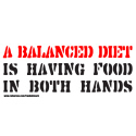 A BALANCED DIET T-SHIRTS AND GIFTS