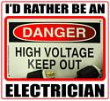 I'D RATHER BE AN ELECTRICIAN T-SHIRTS AND GIFTS