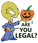 Funny Halloween Illegal alien Pumpkin
