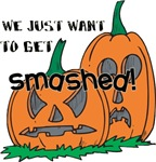 Funny Halloween Smashed pumpkins