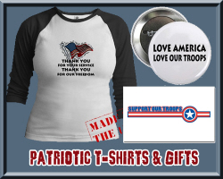 Support our Troops Patriotic T-shirts & Gifts