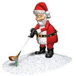 Golfing Santa Claus Ornaments & Gifts