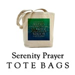 Serenity Prayer Tote & Gym Bags