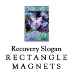 Recovery Slogans Rectangle Magnets