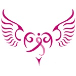 Breast Cancer Angel Heart