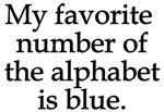 Favorite number alphabet blue