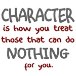 Character treat those