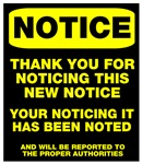 Notice thank you for noticing