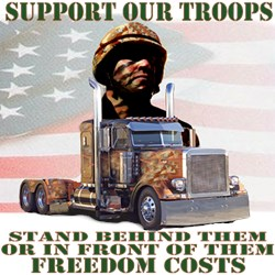 Truckers Supporting Our American Troops