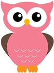 Owl - Pink and Brown