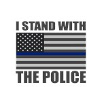 I stand with the police