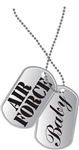 AIR FORCE Baby Dog Tags