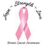 Hope-Strength-Love Breast Cancer T-Shirts