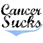 Grunge Style Cancer Sucks Prostate Cancer T-Shirts