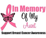 In Memory Of My Aunt Breast Cancer T-Shirts & Gift