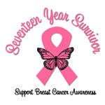 17 Year Breast Cancer Survivor T-Shirts
