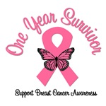 1 Year Breast Cancer Survivor T-Shirts