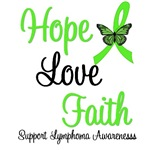 Lymphoma Hope Love & Faith T-Shirts & Gifts