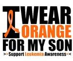 I Wear Orange For My Son Leukemia Shirts