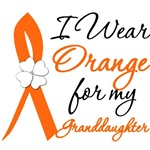 I Wear Orange Flower Granddaughter Leukemia Shirts